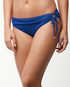 Pearl Hipster Bikini Bottoms With Ring