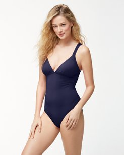 Pearl Over-The-Shoulder Crossback One-Piece Swimsuit