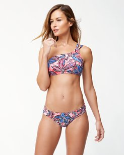 Java Blossom One-Shoulder Bikini Top