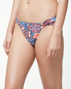 Java Blossom Hipster Bikini Bottoms With Hardware