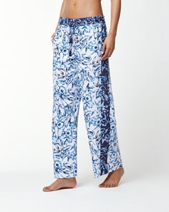Sketchbook Blossoms Beach Pants With Tassels