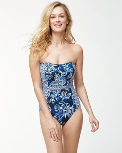 IslandSculpt™ Underwire Bandeau One-Piece Swimsuit