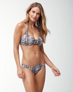 Snake Charmer Halter Bikini Top with Hardware