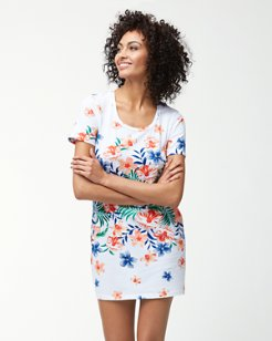 Floral Showers T-Shirt Dress