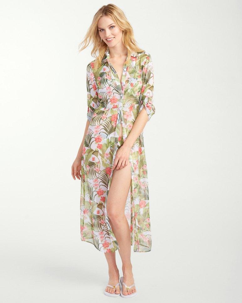 Beau Jardin Tea Length Shirt Dress