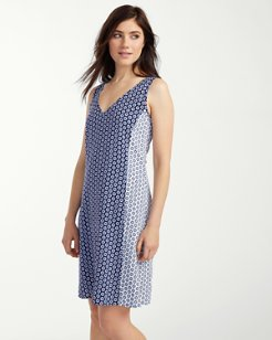 Paisley Terrace Plunge-Back Dress