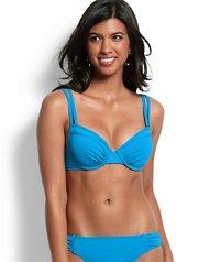 new -Pearl Underwire Double-Strap Bikini Top
