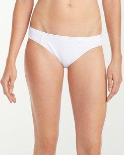 Pearl Side-Shirred Hipster Bikini Bottoms