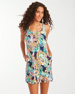 Mare Paisley Scoop-Neck Tank Dress