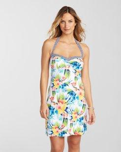 Fleur de Lite Halter Swim Dress