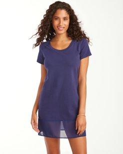 Knit & Chiffon T-Shirt Dress