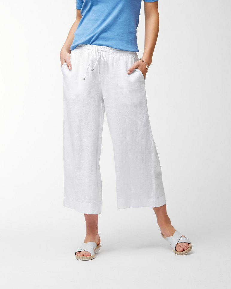 Main Image for Two Palms Linen Easy Cropped Pants