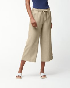 Two Palms Linen Easy Cropped Pants