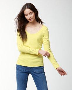 Indio Scoop-Neck Long-Sleeve T-Shirt
