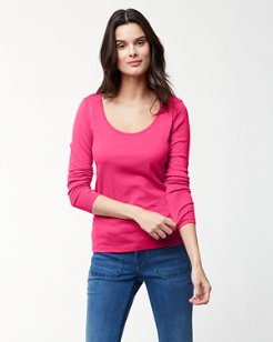 Indio Scoop-Neck Long-Sleeve T-Shirt