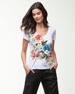Eros Botanical V-Neck T-Shirt