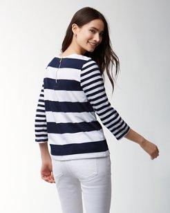 Thera Stripe 3/4-Sleeve T-Shirt