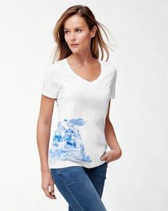 Santorini Watercolor T-Shirt