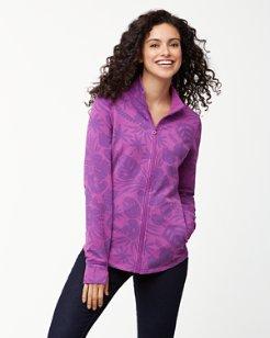 Jen & Terry Monstera Mash Full-Zip Sweatshirt