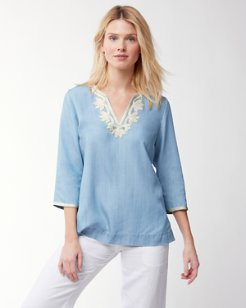Chambray All Day Embroidered Tunic