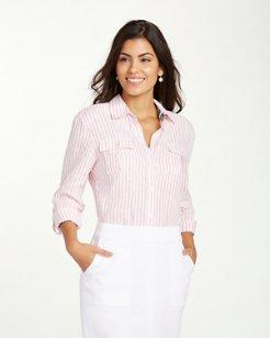 Two Palms Stripe Linen Boyfriend Shirt