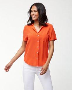 June Silk Camp Shirt