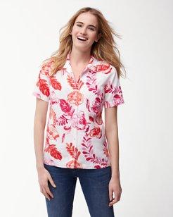 Florals Falling Linen-Blend Camp Shirt