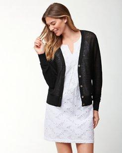 Lea Linen Button Cardigan