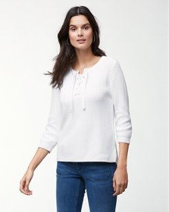 Pickford Lace Up Sweater