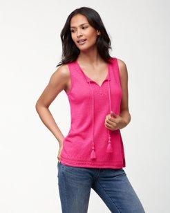 Lea Embellished Linen Tunic