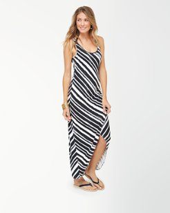 Brushed Breaker Tambour Maxi Dress