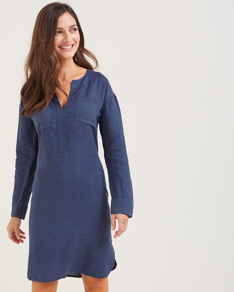 Two Palms Linen Shirt Dress
