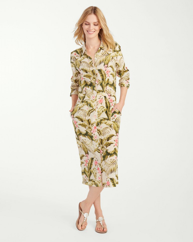 Beau jardin silk shirt dress for Beau jardin