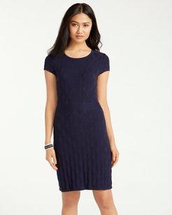 Pickford Cap-Sleeve Sweater Dress