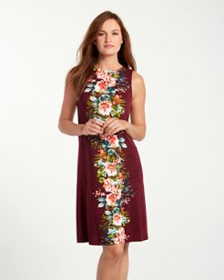 Watercolor Columns Dress