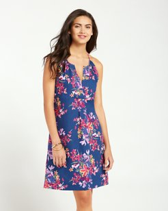 Floria Florals Linen Shift Dress