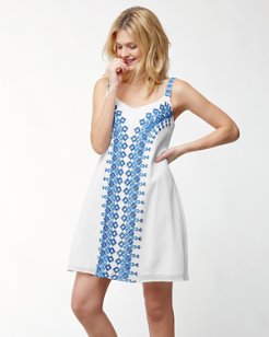 Greece's Pieces Embroidered Dress