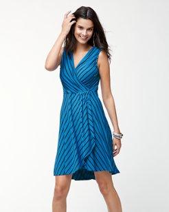 Portside Stripe Wrap-Style Dress