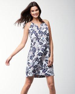 Olympias Blooms Sleeveless Linen Dress