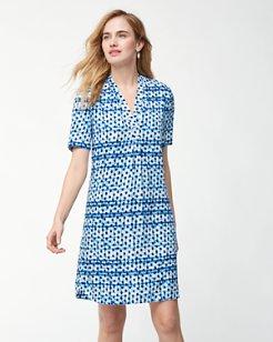 Dot Matrix Shirt Dress