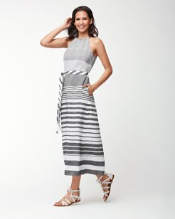 Opa Stripe Linen Maxi Dress