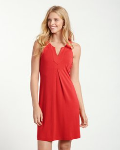 Tambour Notch-Neck Dress