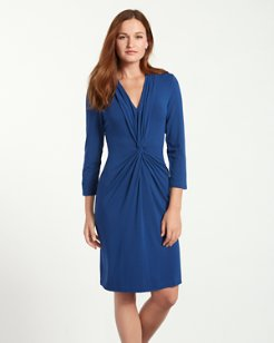 Tambour Twist Front Dress