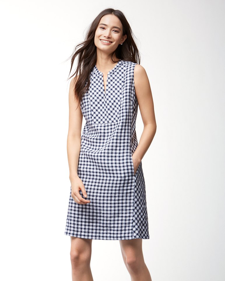 Gingham The Great Linen Dress
