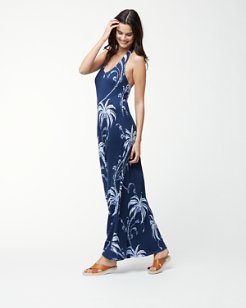 Palm Tree Tropics Maxi Dress