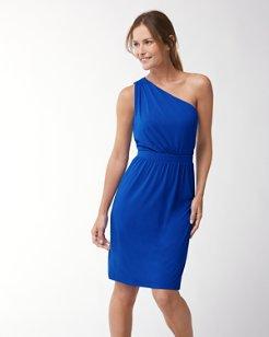 Tambour One-Shoulder Dress
