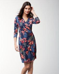 Sacred Groves Tambour Faux-Wrap Dress