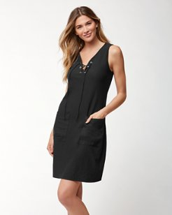 Arden Jersey Lace-Up Dress