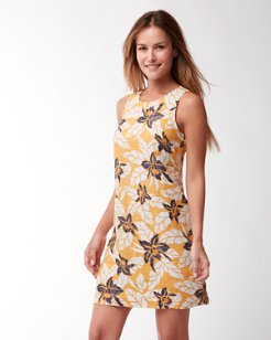 Olympias Blooms Linen Shift Dress