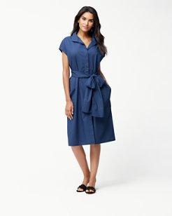 Island Poplin Midi Dress